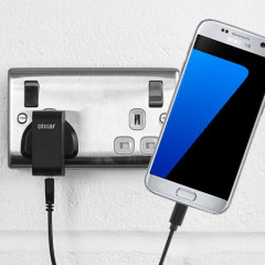 Charge your Samsung Galaxy S7 quickly and conveniently with this compatible 2.4A high power charging kit. Featuring mains adapter and USB cable.