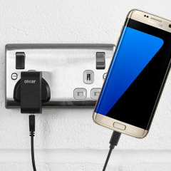Charge your Samsung Galaxy S7 Edge quickly and conveniently with this compatible 2.4A high power charging kit. Featuring mains adapter and USB cable.