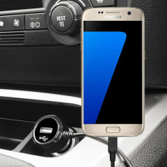 Keep your Samsung Galaxy S7 fully charged on the road with this high power 2.4A Car Charger, featuring extendable spiral cord design. As an added bonus, you can charge an additional USB device from the built-in USB port!