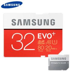 Carte mémoire MicroSDHC Samsung EVO + Classe 10 – 32Go avec Adaptateur