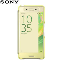 This official SCR56 smart cover in lime gold from Sony houses your Xperia X Performance, providing protection and full functionality through the see-through touchscreen font cover, allowing you to view and action incoming messages and calls.