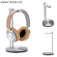 Introducing the Just Mobile HeadStand. Keep your desk and work space clean and tidy with this premium headphones stand.