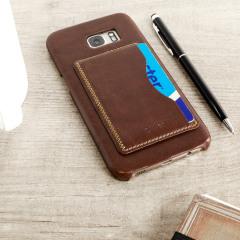 Olixar Leather-Style Samsung Galaxy S7 Edge Card Slot Case - Brown