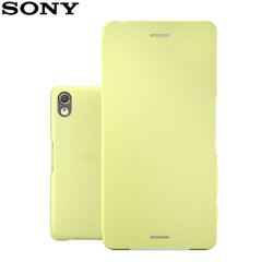 Original Sony Xperia X Style Cover Flip Case Tasche in Lime Gold