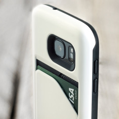 Matchnine Match4 Pocketcard Samsung Galaxy S7 Skal - Metallisk Vit