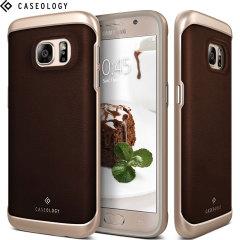Caseology Envoy Series Galaxy S7 Hülle Braun Leder