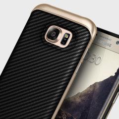 Caseology Envoy Series Galaxy S7 Edge Hülle Carbon Fibre Schwarz