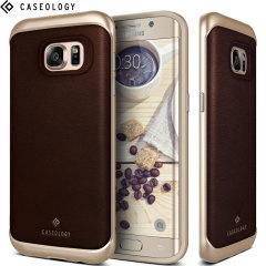 Caseology Envoy Series Galaxy S7 Edge Hülle Braun Leder