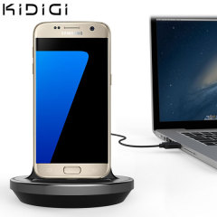 Synchronise and charge your Samsung Galaxy S7 with this stylish and case compatible desktop dock which also acts as a multimedia stand.