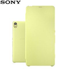 Original Sony Xperia XA Style Cover Flip Case Tasche in Lime Gold