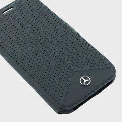 Mercedes-Benz Samsung Galaxy S7 Edge Ledertasche Book Case Schwarz