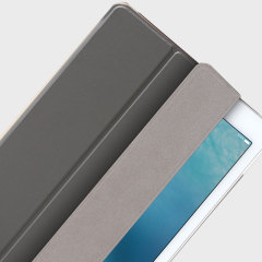 The Smart Cover just got smarter! Built-in magnets draw this grey Smart Case to the iPad Pro 9.7 for a perfect fit that not only protects, but also wakes up, stands up and brightens up your iPad.