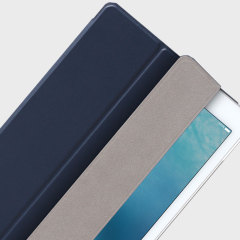 The Smart Cover just got smarter! Built-in magnets draw this navy Smart Case to the iPad Pro 9.7 for a perfect fit that not only protects, but also wakes up, stands up and brightens up your iPad.