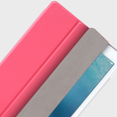 The Smart Cover just got smarter! Built-in magnets draw this pink Smart Case to the iPad Pro 9.7 for a perfect fit that not only protects, but also wakes up, stands up and brightens up your iPad.