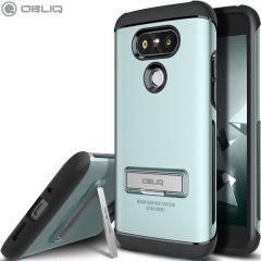 The Obliq Skyline Advance Pro Stand Case in mint is an ergonomic protective case for the LG G5, providing fantastic shock absorption without adding excessive bulk. It also features a built-in stand for viewing media.