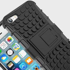 Olixar ArmourDillo Hybrid iPhone SE Hülle in Schwarz