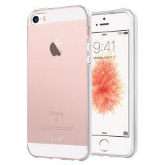 Erityisesti muotoiltu iPhone SE:lle, tämä FlexiShield kotelo tarjoaa ohutta ja kestävää suojaa vaurioitumiselta.