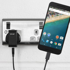 Charge your Nexus 5X and any other USB device quickly and conveniently with this compatible 2.4A high power USB-C UK charging kit. Featuring a UK wall adapter and USB-C cable.