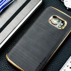 Motomo Ino Line Infinity Galaxy S7 Case - Stone Black / Chrome Gold