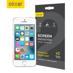 Keep your iPhone SE screen in pristine condition with this Olixar scratch-resistant screen protector 2-in-1 pack. Ultra responsive and easy to apply, these screen protectors are the ideal way to keep your display looking brand new.