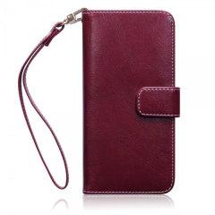 Olixar Samsung Galaxy S7 Tasche im Brieftaschen Design Floral Rot