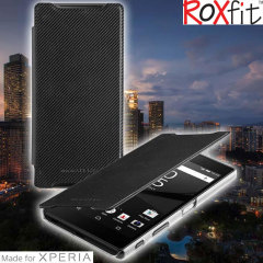 Roxfit Sony Xperia X Performance Premium Slim Book Case - Black