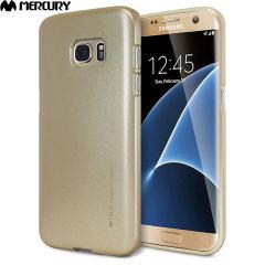 Mercury iJelly Metallic Case Samsung Galaxy S7 Edge-Gold