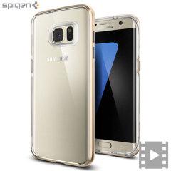 Spigen Neo Hybrid Crystal Samsung Galaxy S7 Edge suojakotelo - Kulta