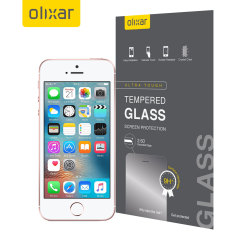 Olixar iPhone SE Tempered Glas Displayschutz