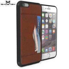 Ghostek Stash iPhone 6S / 6 Genuine Leather Wallet Case - Light Brown
