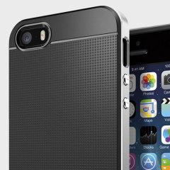 Spigen SGP Neo Hybrid Case voor iPhone SE - Zilver