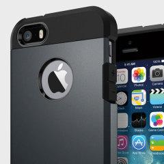 Spigen Tough Armor iPhone SE Hülle in Metal Slate