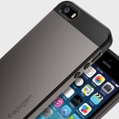 Spigen Slim Armor iPhone SE Tough Case Hülle in Gunmetal