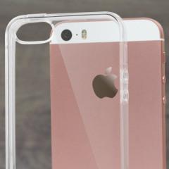 Tämä IPhone SE -puhelimille suunniteltu Flexishield suojakotelo tarjoaa kestävää suojaa ulkoisilta vaurioilta.