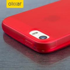 FlexiShield iPhone SE Gel Case - Rosso
