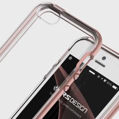 VRS Design Crystal Bumper iPhone SE Hülle Rosa Gold