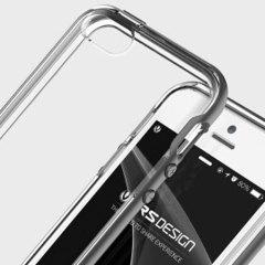 VRS Design Crystal Bumper iPhone SE Case - Blauw