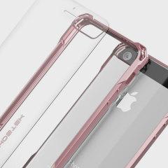 De Covert-hoes van Ghostek wordt geleverd met een stevige en zeer duurzame film screen protector om je Apple iPhone SE te voorzien van fantastische all-round bescherming.