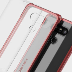 Ghostek Covert LG G5 Bumper Case - Clear / Red