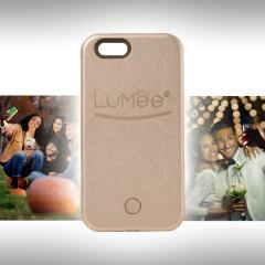 LuMee iPhone SE Selfie Light Case Hülle in Rose Gold
