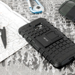 Protect your HTC 10 from bumps and scrapes with this black Olixar ArmourDillo case. Comprised of an inner TPU case and an outer impact-resistant exoskeleton, the ArmourDillo provides robust protection and supreme styling.