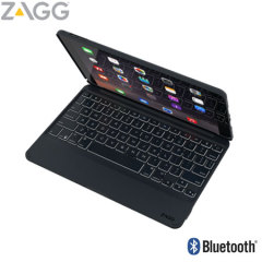 This durable ZAGG iPad Pro 9.7 Bluetooth keyboard cover in black lets you type faster, while at the same time protecting your iPad Pro 9.7 without adding much bulk and also features backlit keys.