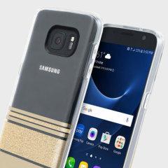Incipio Wesley Stripes Samsung Galaxy S7 Case - Gold