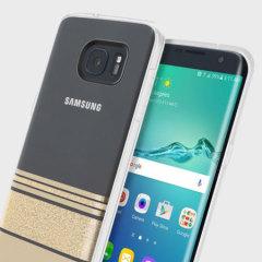 Incipio Wesley Stripes Samsung Galaxy S7 Edge Case - Gold
