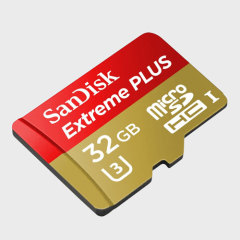 SanDisk Extreme Plus Micro SDHC Card with SD Adapter - 32GB