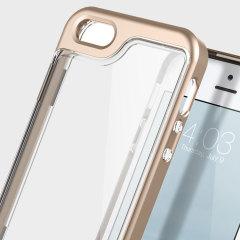 Caseology Skyfall Series iPhone SE Case Hülle in Rosa Gold / Klar
