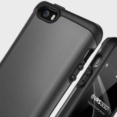 Dies ist die neu entwickelte robuste Hülle für das iPhone SE. Die Hülle ist aus 2 Materialien angefertigt welche Ihr Handy gleichzeitig modern und schlank hält.