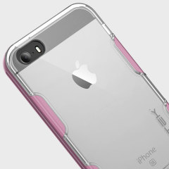 Ghostek Cloak iPhone SE Aluminium Tough Case - Clear / Pink