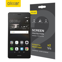 Keep your  Huawei P9 Lite screen in pristine condition with this Olixar scratch-resistant screen protector 2-in-1 pack.