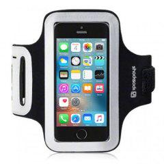 Lleve su iPhone SE seguro mientras hace deporte gracias a este brazalete de Shocksock. Es realmente cómodo ya que es flexible y totalmente ajustable. Está fabricado de un material ligero.